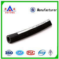 China Hebei Aotong Supply Different Size 4-Steel Wire Reinforcement Spiraled Rubber Hydraulic Hose
