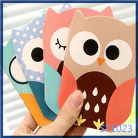 2016 best selling school lovely design wholesale owl shaped cute kids promotional notebook