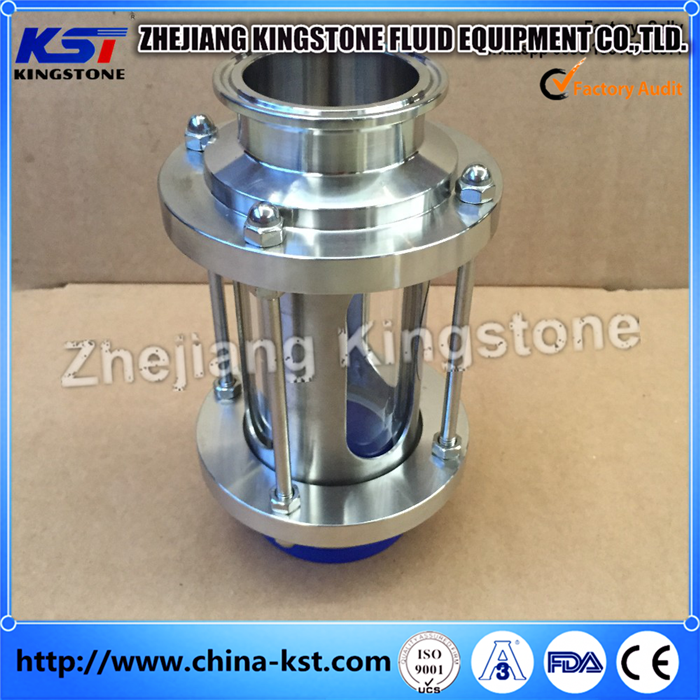 Stainless Steel Sanitary Clamped end Pipe Sight Glass