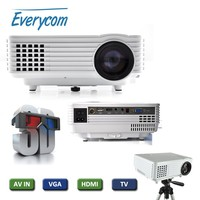 EC-77 LED Projector 3D full hd TV 1920 x 1080p video Mini proyector hdmi Pico projector VGA free shipping multimedia