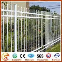 Beautiful and durable PVC fence panels Used white palisade Courtyard fence