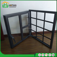 Metal art security iron window grill color black or grey glazing steel casement window with burglar grills design