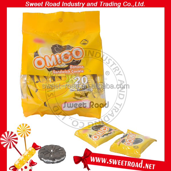Omico Banana Chocolate Sandwich Cookie