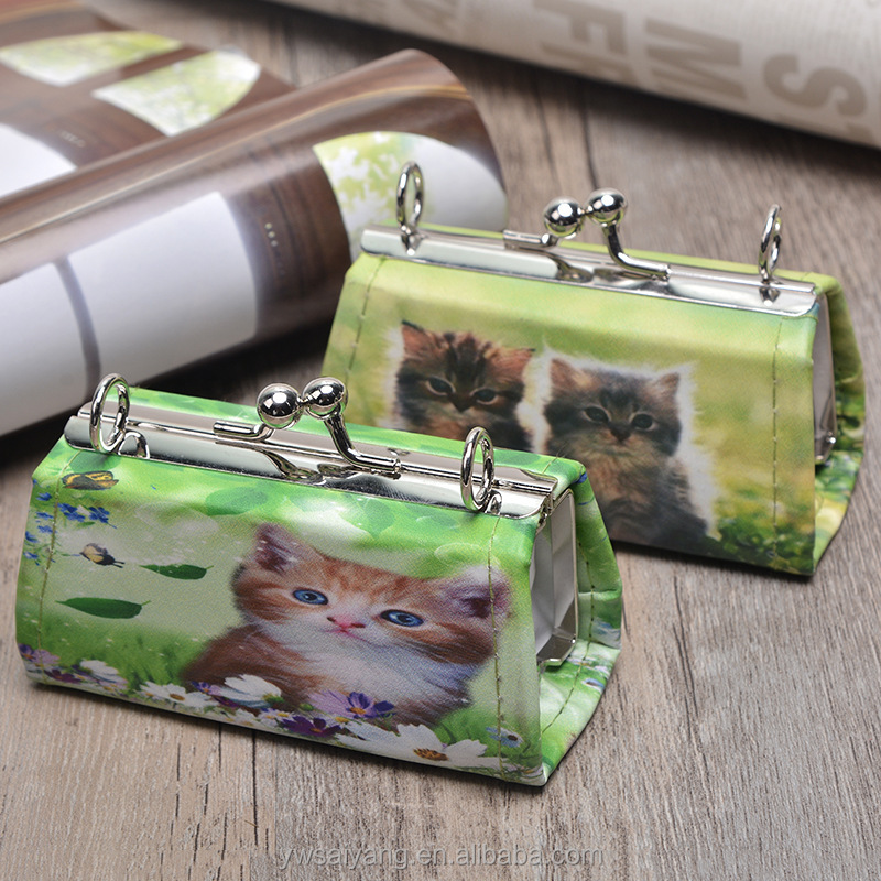 Sy802 Wholesale Leather Cat Coin Purse Luxury Pvc Coin Purse Mini PU Personalized Cute Coin Purse