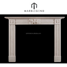 Beautiful Beige Marble marble fireplace mental