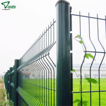 hot sale rust proof curvy welded wire mesh fence