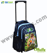 Cartoon boy trolley school bag