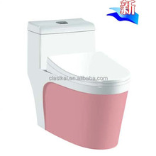 Good quality bathroom wc Siphonic one piece pink color toilet