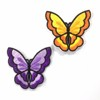 new design embroidery patch butterfly polyester yarn motifs for clothes BK-MTF814