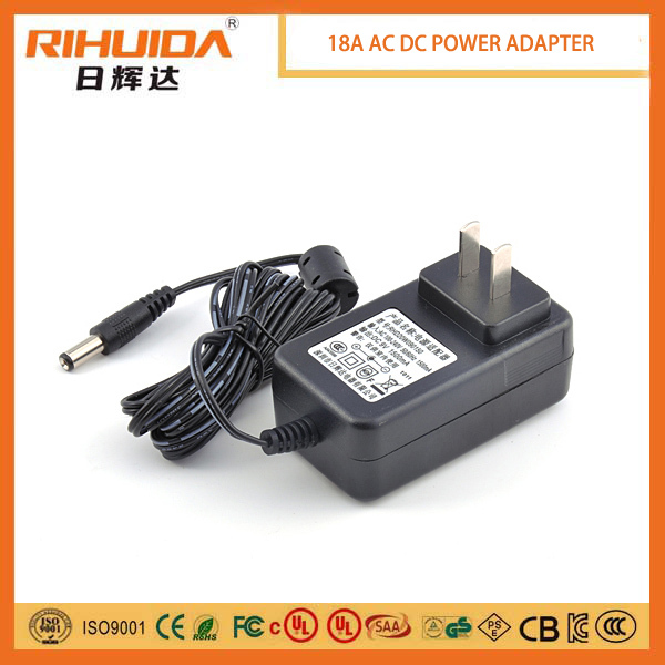 CE FCC KC 12v power adapter for modem, cctv camera