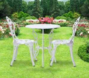 Luxury Cast Aluminum Outdoor Furniture Fabric Chairs Sets Garden Table Set