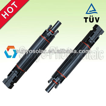 MC4 solar fuse connector with IP68 certificated