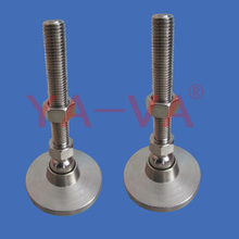 Stainless Steel M16 Adjustable Leveling Feet with Anti-Slid Rubber Pad Base