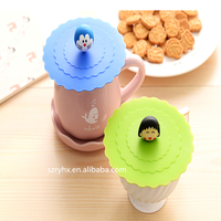 Lovely animal cartoon silicone rubber cup cover