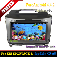 ROM 16GB Quad-core Android 4.4 touch screen car dvd player for Kia Sportage R 2010 2011 2012