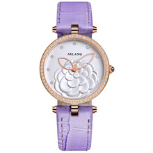 famous brand women watches luxury automatic self wind watch skeleton dials transparent glass gold case leather band