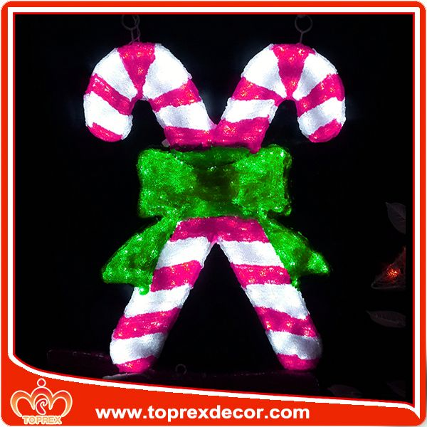 Candy cane atrium christmas decoration