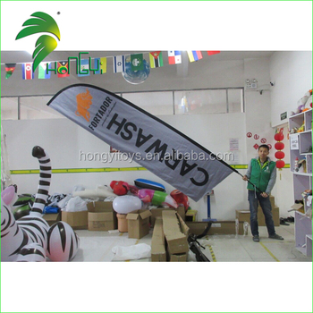 UV Proof Outdoor Flag Banners Custom Feather Flag Stand For Advertising