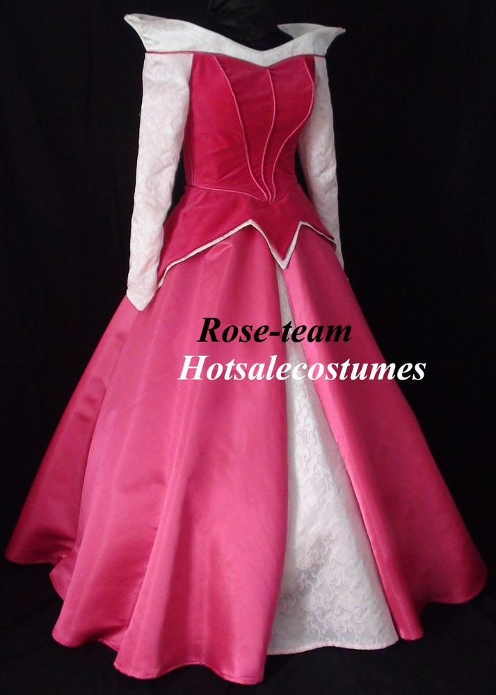 Rose-team Fantasia Anime Sexy Carnival Halloween New Arrival Cheap Custom Made Adult Sleeping Beauty Dress Princess Dress Parks