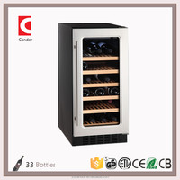 Candor: 33 Bottles Compressor Built-in Wine cooler/Chiller/Fridge with ETL/CE/ROHS JC-85A1EQ