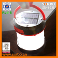 Fashion Style Portable Camping Lantern LED Flashlight Torch With SORBO Solar Power Bank Lantern New Design Solar Charger Light