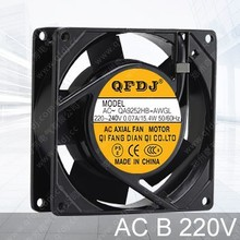 92mm 9225 ac 220v sirocco exhaust fan for high temperature oven