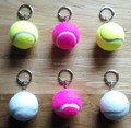 wholesale custom named printed sports tennis ball keyring