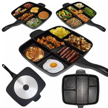 5 Sections Divided Frying Pan Master Pan Non-Stick PFOA free