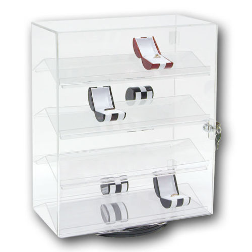 countertop rotating acrylic jewelry display stand