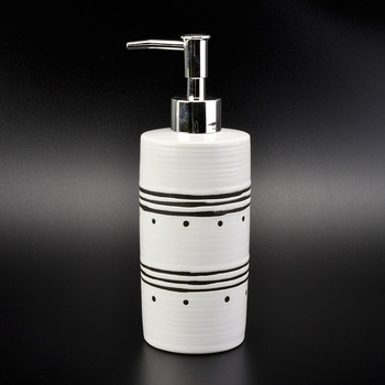 white ceramic bathroom accessories set, ceramic bath cream bottle