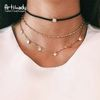 Artilady Gold Plated Crystal Choker Necklace