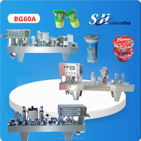 hot selling automatic yoghurt ,milk, soymilk, black tea water cup filling sealing machine