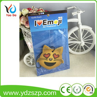 Made in China customized hanging paper cardboard car air freshener