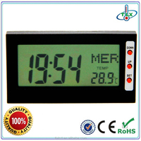 2016 Mini digital table thermometer clock with calendar