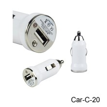 Portable High Speed Colorful DC5V 1000mA Single USB 12v Output Cell Phone Car Charger