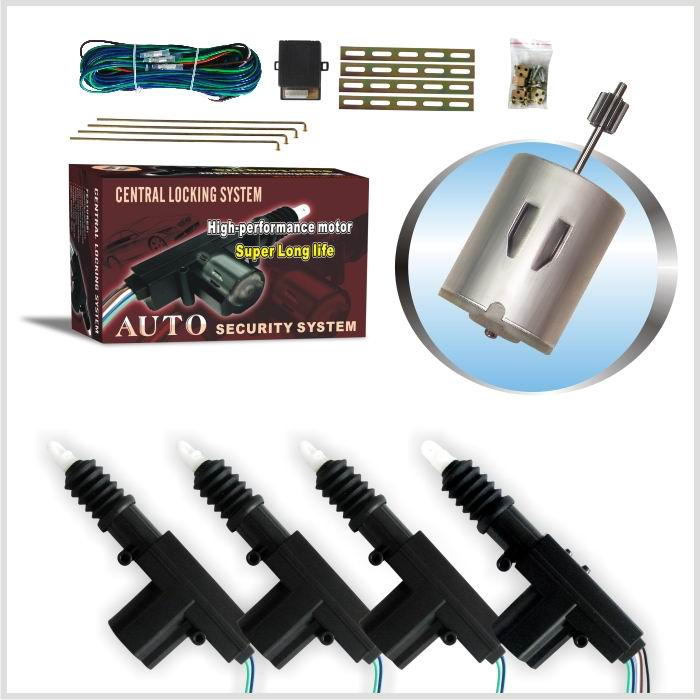12v 24v Car Central lock motor central lock with 4 or 2 motors for toyota SUV truck