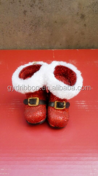Lovely Plastic Boots for Christmas Day Navel Belly Ring Waist Wrapped/GLITTER Plastic Boots with Cotton Edge