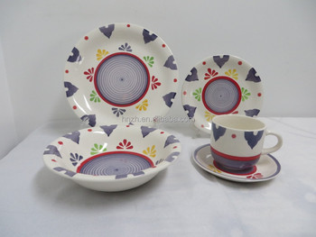 Heart shape handpainted arabic dinner set made in China