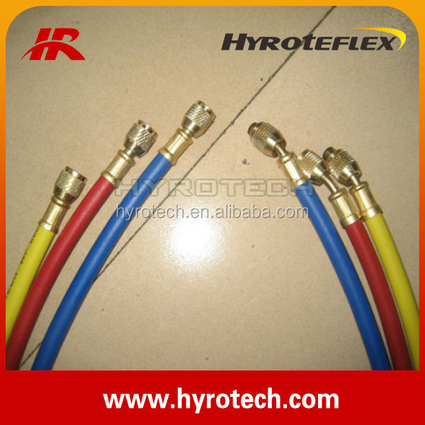 rubber freon charging hose supplier/three color refrigerant hose