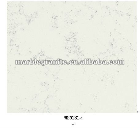 Chinese Carrara Mist Cultured Pure White Marble