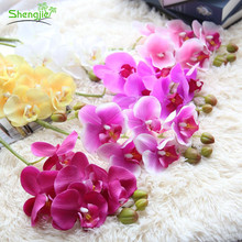 Best sale wedding favors silk butterfly orchids flowers for wedding home