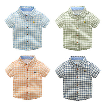 MS75433B Hot selling kids boys checked soft shirts