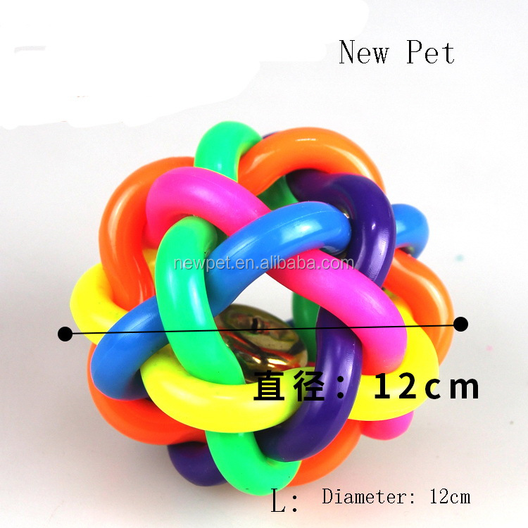 Factory wholesale nice grade puppy knitted ball, training toy mixed dog toy