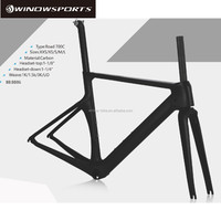 2018 Winow New model China aero 700c road bike carbon frame BB86 bicycle direct brakes strong cheap frameset on sale WL-RF027
