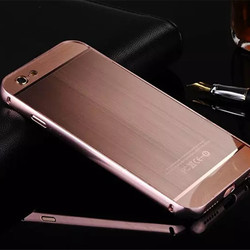 Wholesale Mobile Phone Cases PC Brushed Metal Bumper Case Cover For Iphone 5/5s/se