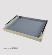 China manufacturer eco friendly rectangular serving tray with handles for hotel