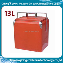 13L retro metal beer beach cooler box chest ice box