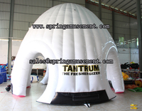 2016 Popular small PVC material inflatable double layer dome tent for sale SP-T3017