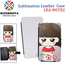Sublimation Leather Phone Case for samsung galaxy note 2