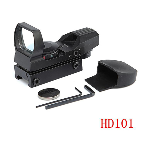1X22mm Tactical Scope With Red Dot,Cross Rifle Gun Scope